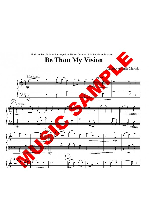 Be Thou My Vision - Duet for Strings or Woodwinds