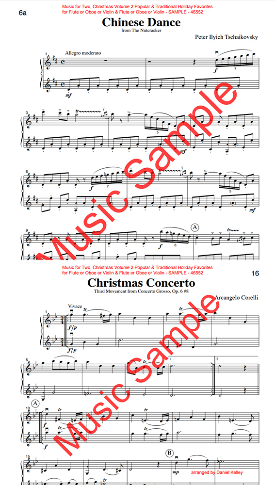 Music for Two Christmas Volume 2 oboes
