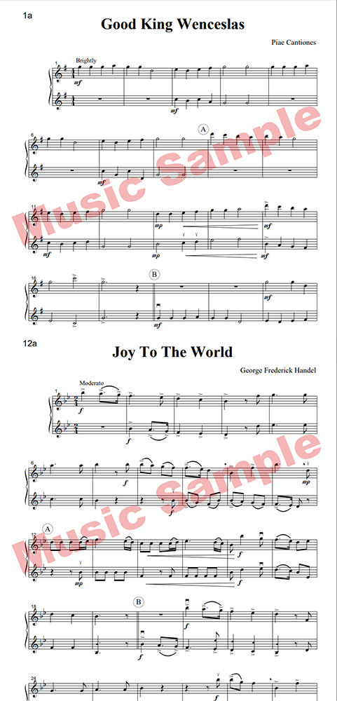 Intermediate Music for Two Christmas oboes