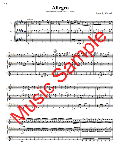 Music for Three Treble Instruments - Collection No. 2: Wedding & Classical Favorites