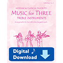 Music for Three Treble Instruments - Collection No. 2: Wedding & Classical Favorites - Part 1 - Clarinet in Bb - Digital Download