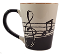 latte mug with treble and staff