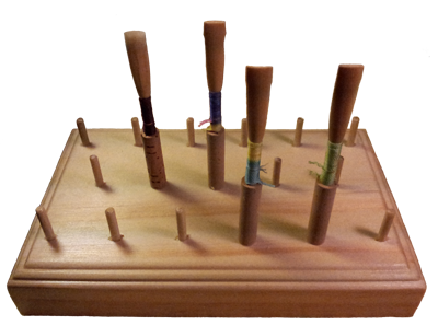 Oboe Reed Drying Rack with Reeds
