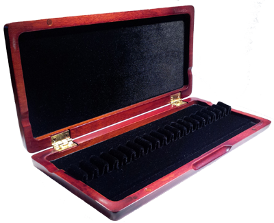 Oboe Reed Case Stained Wood Holds Twenty Reeds